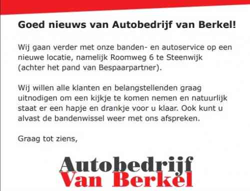 Open dag 19 oktober 2019 Autobedrijf van Berkel en Uw Bandenspecialist van Berkel Steenwijk
